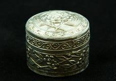 Старый серебряный ларец Стоковые Фотографии RF