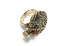 старый серебр кольца Стоковое Изображение
