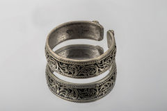старый серебр кольца Стоковое фото RF
