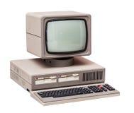 Старый серый компьютер Стоковые Изображения