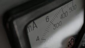 Старый сетноой-аналогов амперметр Стоковые Изображения RF