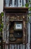 Старый сетноой-аналогов метр силы Стоковое Фото