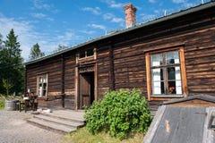 Старый сельский дом в северной Швеции Стоковое Изображение RF