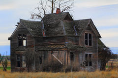 Старый сельский дом границы стоковое фото