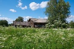 Старый сельский дом Стоковое Изображение