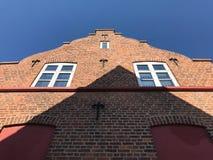 Старый скандинавский дом, Дания стоковое фото
