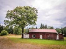 Старый скандинавский дом стоковые изображения