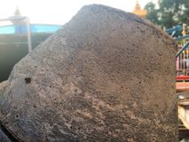 Старый смеситель цемента с ржавчиной стоковая фотография