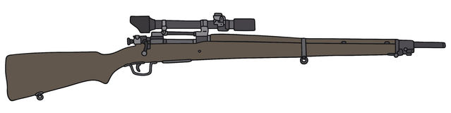 старый снайпер винтовки Стоковое Фото