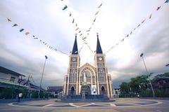 Старый собор в Chanthaburi стоковое изображение