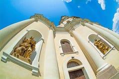 Старый собор в vilage Mykulynci Стоковое Изображение