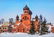Старый собор Pokrovsky верующих Стоковые Изображения