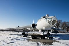 Старый советский стратегический бомбардировщик Tu-16, музей авиации Стоковые Фотографии RF