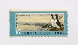 Старый советский штемпель почтового сбора, птица Стоковое Фото