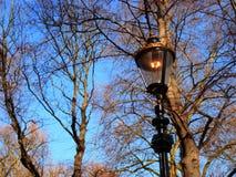 Старый современный столб лампы стоковые фото