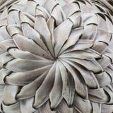 Старый сплетенный кокос выходит предпосылка картины Стоковая Фотография RF
