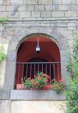 Старый средневековый балкон Стоковая Фотография RF
