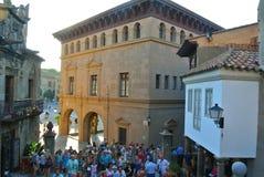 Старый средневековый испанский замок от внутренности стоковое фото rf