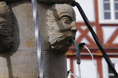 Старый средневековый фонтан стоковые фото