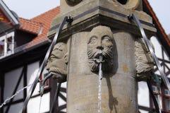 Старый средневековый фонтан стоковое фото