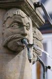 Старый средневековый фонтан стоковые изображения rf
