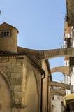 Старый средневековый городок Bonifacio, южный остров Корсики, Франция Стоковое Изображение
