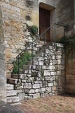 Старый средневековый дом в деревнях Beynac, долина Дордонь Стоковые Изображения