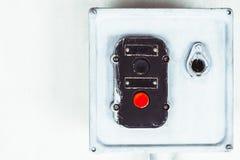 Старый старт кнопки стоп Стоковая Фотография RF