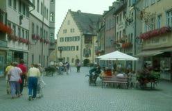 Старый старый городок Isny im Allgau Стоковое Изображение