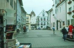 Старый старый городок Isny im Allgau Стоковые Изображения RF