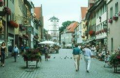 Старый старый городок Isny im Allgau Стоковое Фото