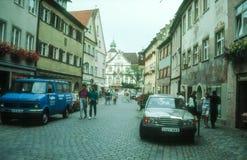 Старый старый городок Isny im Allgau Стоковое Изображение RF