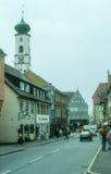 Старый старый городок Wangen im Allgau Стоковое Изображение