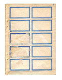 Старый стикер Стоковое Изображение RF