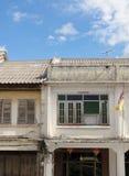 Старый стиль португалки Чино Пхукета городка Стоковые Фотографии RF