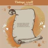 Старый стиль эскиза переченя на предпосылке акварели Стоковые Фото