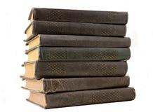 Старый стог коричневых книг Стоковое Изображение RF