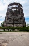 Старый стояк водяного охлаждения завода теплоэлектроцентрали в Kyiv, Украине Стоковые Изображения RF