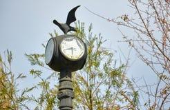 Старый столб лампы часов Стоковое Изображение RF