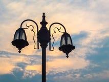 Старый столб светильника Стоковая Фотография