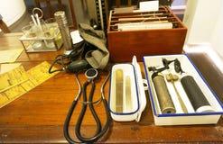 Старый стол доктора Стоковое Изображение