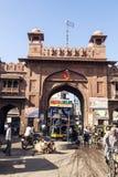 Старый строб города в Bikaner Стоковое Изображение