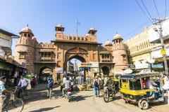Старый строб города в Bikaner Стоковые Фото