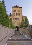 Старый строб города в Chur в зиме Стоковые Фотографии RF