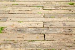 Старый след слипера деревянный на дорожках Стоковое Изображение RF
