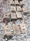 Старый слипер бетона дуо стоковые изображения rf
