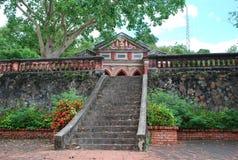 Старый случай лестницы Стоковое фото RF