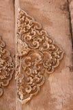Старый тайский конец барельеф вверх Стоковые Изображения RF