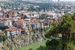 Старый Тбилиси, часть города Стоковое Фото