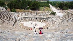 Старый театр в историческом городе Ephesus видеоматериал